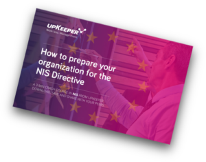 upKeeper E-book: How to prepare your organization for the NIS Directive